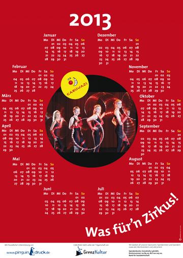 Kalender für CABUWAZI 2013 DIN A 2